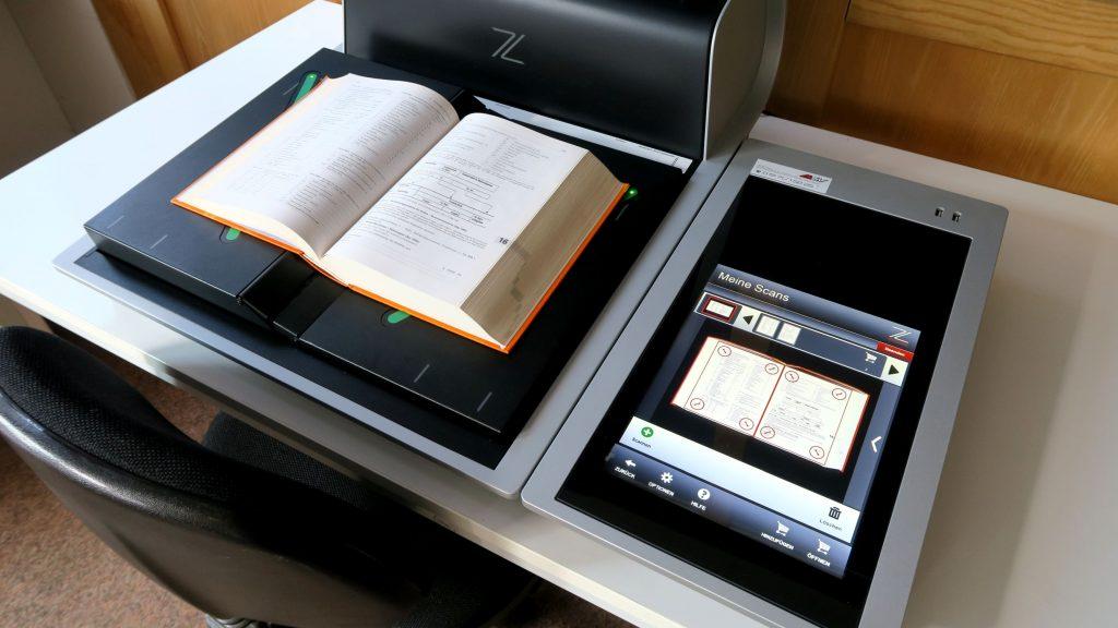 Der Scan kann direkt auf dem Display überprüft werden.